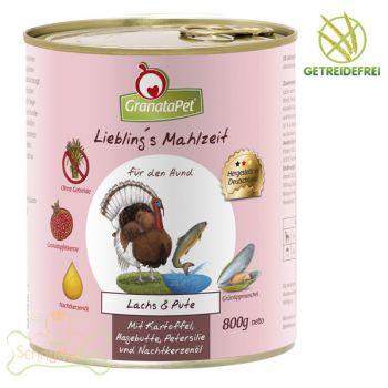 GranataPet Lieblings Mahlzeit Lachs & Pute - 800g