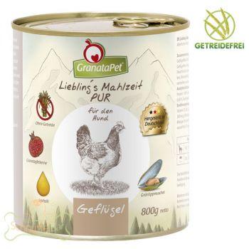 GranataPet Lieblings Mahlzeit Geflügel PUR - 800g