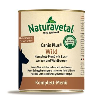 Naturavetal Canis Plus Wild Menü - 800g