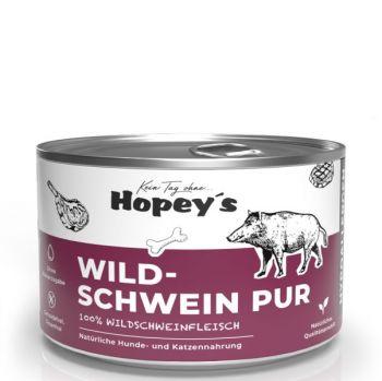 Hopeys Wildschwein pur Fleischdose - 410g