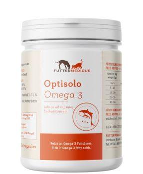 Futtermedicus Optisolo Omega 3 Lachsöl Kapseln - 180 Stück